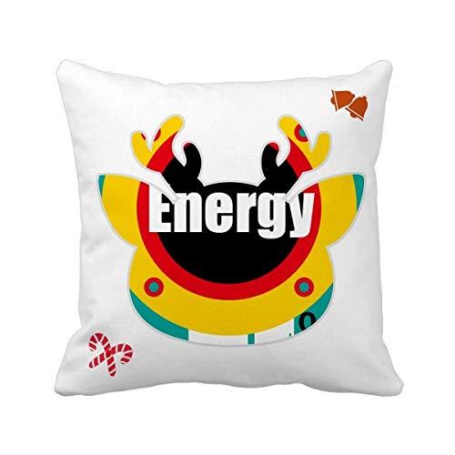 OFFbb-USA Youth Vitality Energy - Funda cuadrada para almohada
