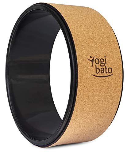 Yogibato Yogarad Kork – Dharma Rad mit ABS Ring – Jogarad für Pilates Joga Stretching Fitness – Yoga Wheel Cork