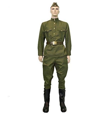 Uniform Jacket + Pants Olive gimnasterka Pant Suit Military Soviet World war 2 RKKA WWII USSR (Medium (48/4) - Height 173-179 cm)