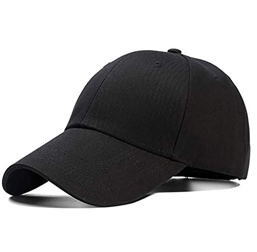 Etyepoh Unisex Kappe - Baseball Cap für Herren und Damen, Verstellbar Reine Farbe Baseboard Baseballkappe Mütze (02 -Schwarz)