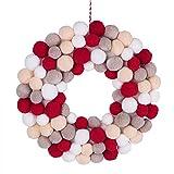 Corona de Navidad con 50 pompones