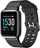 Letsfit Smart Watch, Fitness Tracker with Heart Rate Monitor, Activity Tracker with 1.3' Touch Screen, IP68 Waterproof Step Counter, Sleep Monitor, Pedometer Smartwatch for Women Men Kids