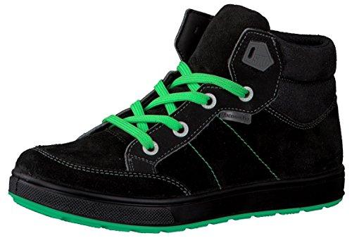 RICOSTA 5423200 Bay M Cooler Jungen Sneaker, Skater Schuh, WMS mittel, Wasserfest, Tex, Textilfutter, Schnürschuh Schwarz (schwarz), EU 35