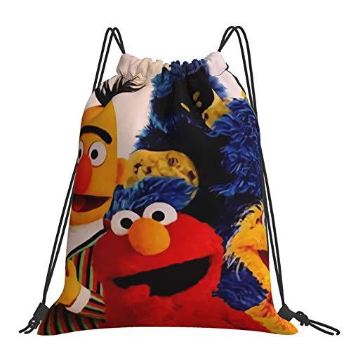 Ses-ame Street Drawstring Backpack Bags String Backpack Bulk Tote Sack Cinch Bag Sport Bags for School Gym Traveling