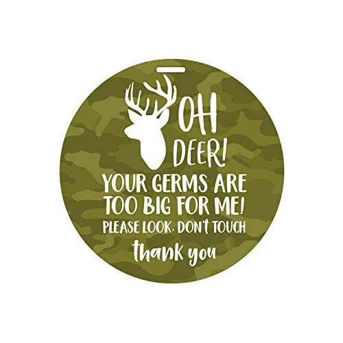Camouflage Deer Stop No Touching Baby Car Seat Sign/Country Boy Germ Stroller Tag