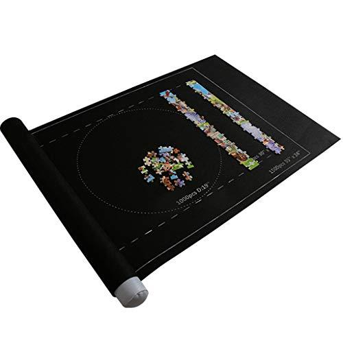 Puzzle Roll Storage Mat   Alfombrilla para puzzle, alfombrilla de puzzle, esterilla portátil de fieltro, rollo de rompecabezas, alfombrilla para guardar puzles (negro)