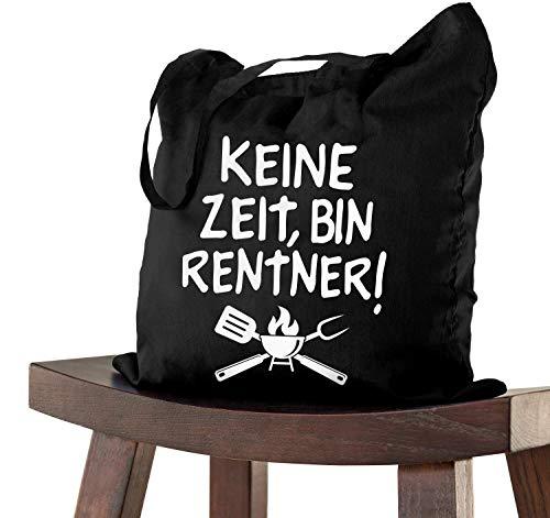 Geschenk Tasche GRILL RENTNER 38x42 Abschiedsgeschenk zur Pensionierung als Dankeschön bei Verabschiedung für Kollegen zum Ruhestand bei Renteneintritt oder Pensionierung, Abschiedsfeier Geburtstag