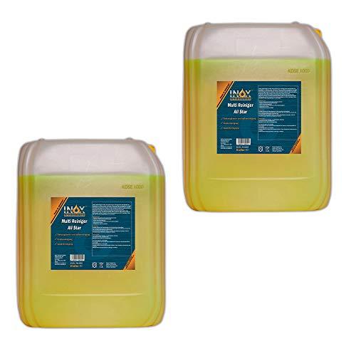 INOX® All Star, 2 x 5 Litres - nettoyants multi universels pour les textiles de nettoyage et plastiques