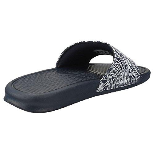 Nike Benassi JDI Print, Zapatillas de Gimnasia Hombre, Gris (Obsidian/Pure Platinum 403), 38.5 EU
