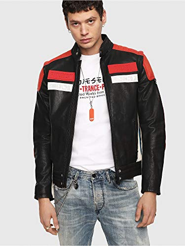 DIESEL L-yuja Jacket Chaqueta, Rojo (Racing Red 42a), X-Large para Hombre