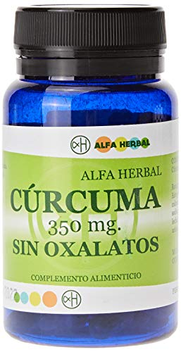 Alfa herbal Curcuma sin oxalatos 350 60cap. 1 Unidad 300 g