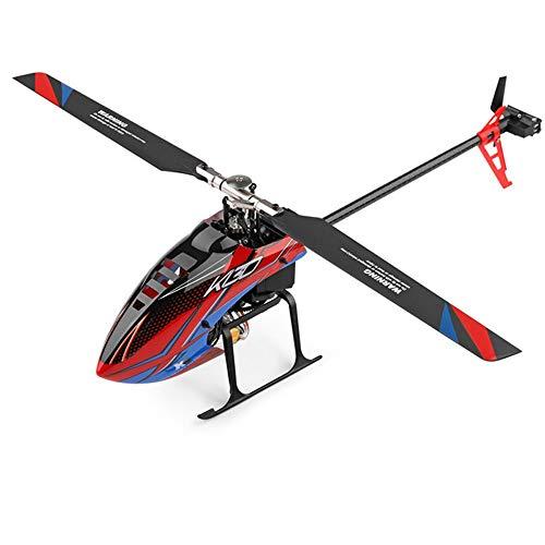 DBXMFZW Helicóptero de Control Remoto de 6 Canales 3/6 Ejes Gyroscopio RC Aircraft 3D6G Modo Dual RC Airplane 2.4G Sin escobillas RC Modelo Avión Regalos para Adultos Boys Profesionales Principiantes