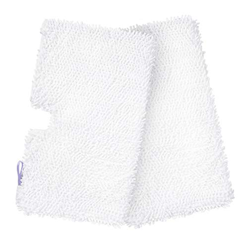 haiyan Libode Washable Shark Steam Mop Pads, Replacement for S3500 Series, S3501, S3601, S3550, S3901, S3801, SE450, White, Pack of 2