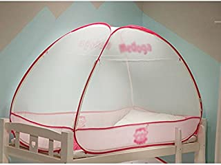 Baby Pop-up Tent Encryption Mosquito Net Free Installation Bed Canopy with Three Openings for Boys and Girls Home Or Camping Bedding Ultra Fine Mesh Protection (Color : Pink, Size : 1.2*1.95*1.1m)