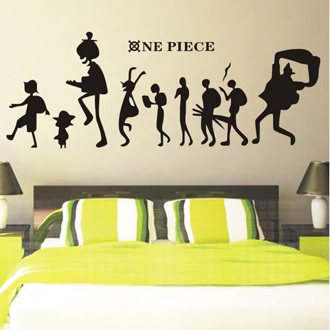 Anime cartoon One Piece aufkleber wohnzimmer schlafsaal tapete aufkleber schlafzimmer nacht cartoon tapete aufkleber, D, Übergröße