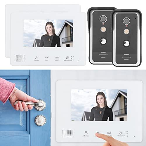 Timbre del intercomunicador, intercomunicador dual de la operación simple de la comunicación del intercomunicador del portero de la visión nocturna para la seguridad en el hogar