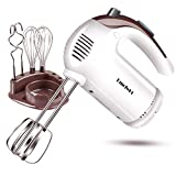 DmofwHi 5 Speed Hand Mixer Electric, 300W Ultra Power Kitchen Hand...