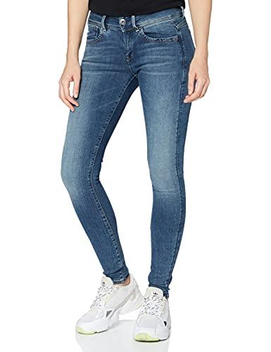 G-STAR RAW Damen Jeans Lynn Mid Waist Super Skinny, Blau (Faded Blue 9136-A889), 28W / 32L