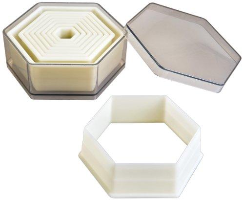 Ibili 784204 Lot de 9 emporte-pièces Hexagone Lisse