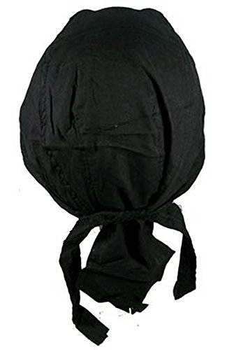 Bandana Du Rag Doo Rag Serre Tete noir coton