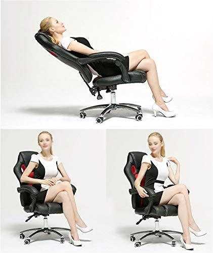 LiKin Silla Gaming para Ergonómica,Altura Ajustable Sillas de Escritorio Reclinable Silla Computadora para Adolescentes Y Adultos (Color : Red-White)