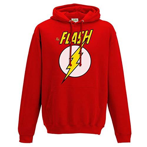 Flash - Sudadera con Capucha con Logotipo y símbolo para Adultos Unisex (XL) (Rojo)