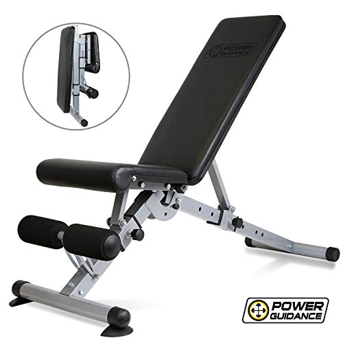 POWER GUIDANCE Weight Bench Adjustable Foldable Strength Training Bench for Home Gym Weightlifting...