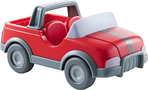HABA 303671 - Little Friends – Tierarzt-Auto   Fahrzeug für Little Friends-Biegepuppen   Tolles Zubehör für die Little Friends-Spielwelt   Auto mit Schwungmotor für Kinder ab 3 Jahren