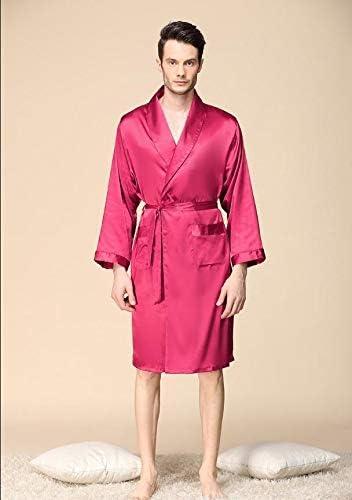 Luxury Designer Men's Many popular brands All items free shipping Silk Kimono Robe Long Plus Sleeve 5XL Men