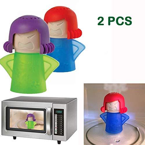 Abnaok Magnetron Cleaner, 2 stks boze Mama Magnetron Oven Stoomreinigers Keuken Cleaner Tool, Gemakkelijk schoon in minuten desinfecteert met Azijn en Water