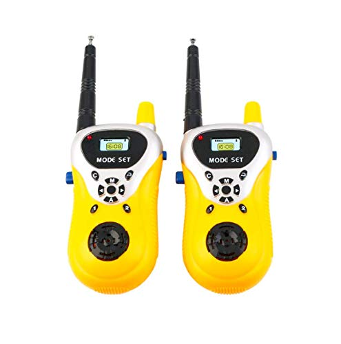GOPINATHJI Kids Walkie Talkie with 2 Player System Toy Interphone. with Extendable Antenna for Extra Range Upto 100 Meters, (Colour Yellow)