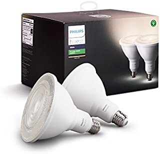 Philips Outdoor Hue White PAR-38 Smart LED Bulb (2-Pack)...