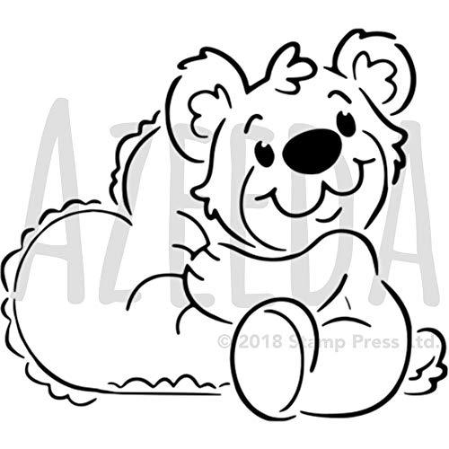 A5 'Teddybär mit Herz' Wandschablone / Vorlage (WS00001974)