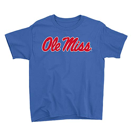 Venley Official NCAA Ole Miss Rebels Hotty Toddy Youth T-Shirt RYLMS06 - Royal, XS