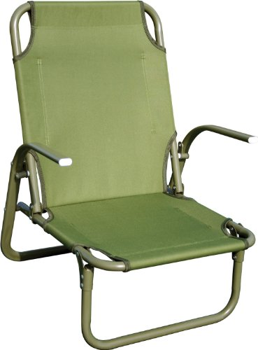 HIGHLANDER Kirkin - Sedia da Campeggio in Acciaio, Colore: Verde Oliva