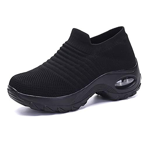 Aprimay Zapatos de senderismo para mujer, súper suaves, para viajes, al aire libre, zapatos atléticos, ligeros, informales, transpirables, para correr, zapatillas de deporte