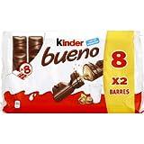 Kinder Kinder bueno lait et noisette - Le paquet de 8x2 barres