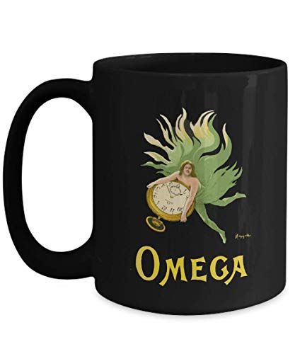 Omega Watches - Vintage Advertising Poster Design - Ceramic Coffee Mug