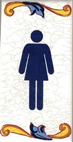 TORO DEL ORO Hausnummern, Zahlen und Buchstaben auf Fliesen, Keramik, Craquelé-Stil, Namen und Adressen, mittelgroßes Craquelé-Design, 5 x 10 cm (Zeichnung