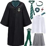 Kajikaji Magic Academy Uniforme de Estudiante Costume Niños Adultos Hembra Disfraz Fan Artículo Conjunto de Atuendo Halloween Carnaval Cosplay Navidad Fiesta Mascarada Camisa Falda Corbata Calcetín