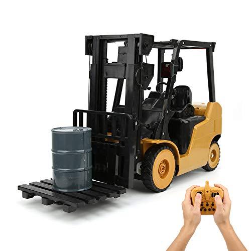 【𝐂𝒚𝐛𝐞𝐫 𝐌𝐨𝐧𝐝𝐚𝒚】Camión de Control Remoto, 11 Canales 1: 8 Juguete de vehículo de construcción de ingeniería, RC Carretilla elevadora Música Crane Car, Modelo de simulación de orugas, Regalos