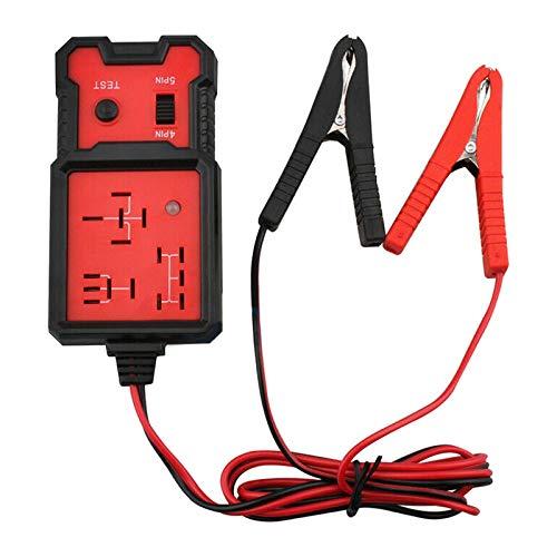 Auto Relais Tester Universal 12V, Kfz Relais Tester, Autobatterie Tester Elektronische Relais Tester mit Clips Auto Relais Diagnosegerät Werkzeug