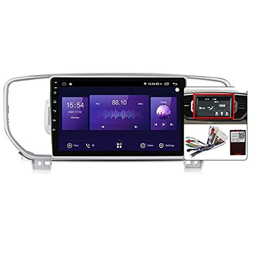 Autoradio Con Schermo Touch,2 DIN 9'' Android 10.0 Autoradio Con 5Ghz Wifi/Controllo Volante/Carplay/Telecamera Di Retromarcia/Touch Screen/DSP/Mirror-Link/Per KIA Sportage KX5 2016-2018,B,4G+64G
