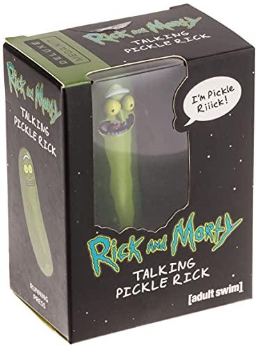 Talking Pickle Rick Figure