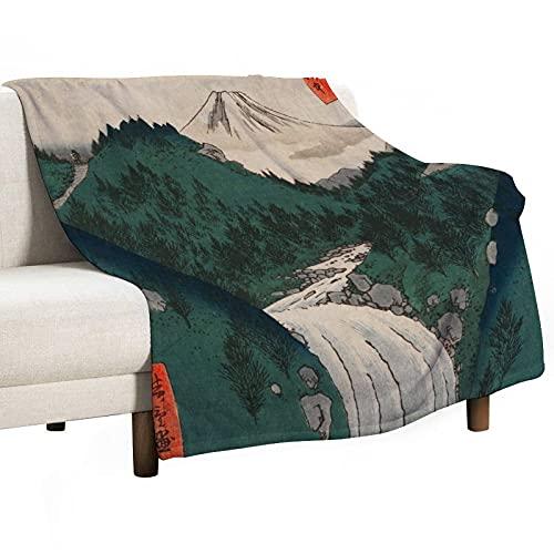 Unggoy View of Fuji - Coperta in micro pile super morbida, calda e leggera, per letto, divano, 150 x 200 cm