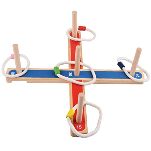 Wooden Edutional Toys Gadgets Garden/Outdoor Rope Wooden PEGS Throwing Game Family Pegs and Rope Game