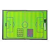 ABOOFAN Tabla de estrategia de fútbol con imanes y rotulador 2 tablas de sección portapapeles de estrategia de entrenamiento de fútbol portátil