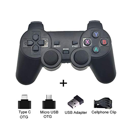 Gamepad Wireless Gamepad For Android Phone/Pc/Ps3/Tv Box Joystick 2.4G Joypad Usb Pc Game Controller For Xiaomi Smart Blackwithclip
