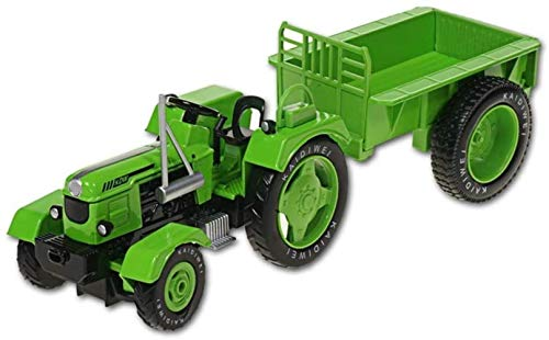 LHT 1:18 Die-Metal Toy Toy Car Aleación de aleación Farm Tractor Simulación Vehículo agrícola Modelo Boy Girl Collection Collection Regalo Coche de Juguete Fundido a presión (Color : Green)