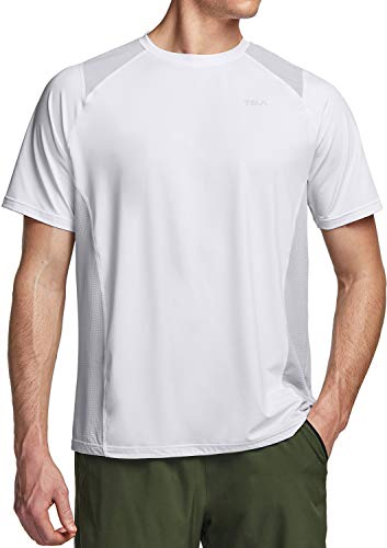 TSLA QuickrDri Athletic Outdoor Performance - Camiseta deportiva para hombre Mts41 1pack - White XL